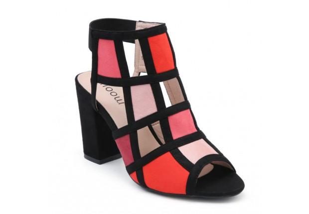 Sandale talon carré