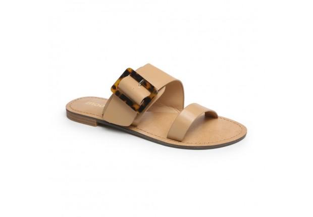 Sandale mule avec boucle écaille