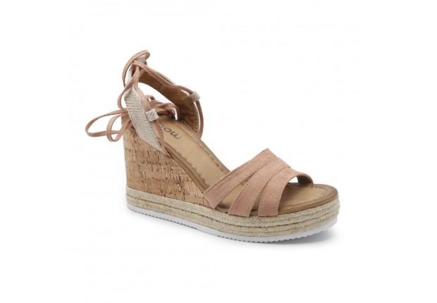 Sandale compensée lien cheville