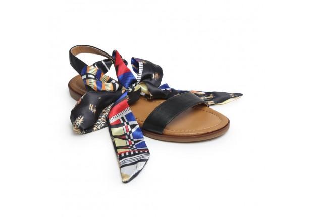 Sandale ruban satin